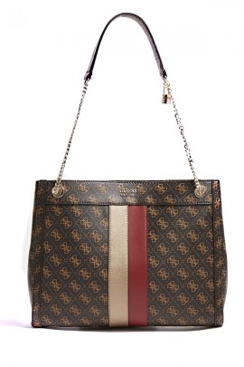 GUESS Square micrologat bag and two-tone band