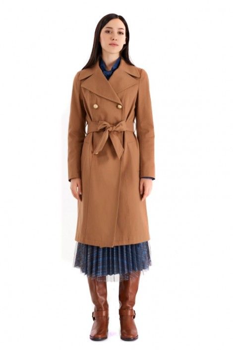 RENAISSANCE Double-breasted trench coat and belt