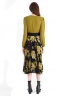 RENACIMIENTO Vestido con falda floral plisada