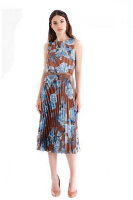 RENACIMIENTO Vestido floral y falda plisada