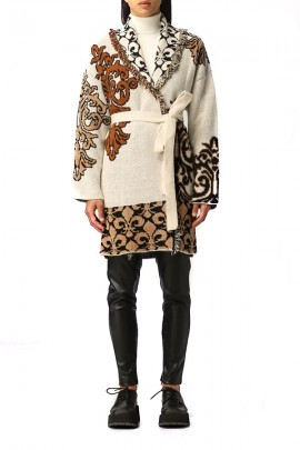 KAOS Patterned cardigan jacket and strap