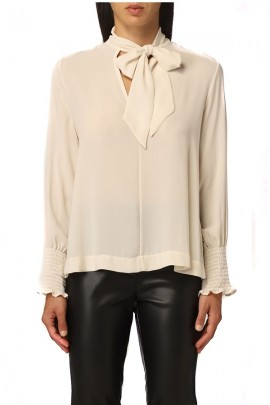 KAOS Sleeve blouse with neck bow