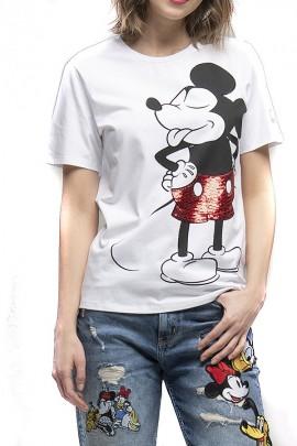 Camiseta FRACOMINA con estampado de Mickey mouse