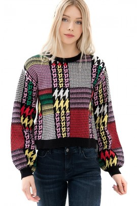 FRACOMINA Multicolor patterned sweater