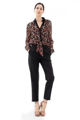 FRACOMINA Chain patterned bodysuit shirt