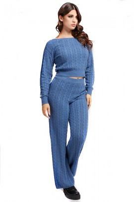 GUESS Thin sweater with braids - BLUETTE