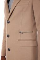 Abrigo IMPERIAL en tejido de espiga y bolsillo con cremallera