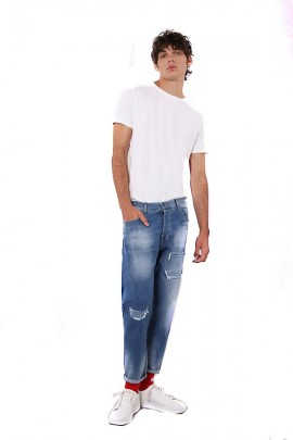 IMPERIAL Regular ripped jeans