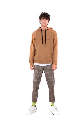 IMPERIAL Ankle-length checkered trousers