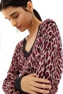 LIU JO Patterned v-neck sweater
