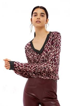LIU JO Patterned v-neck sweater - MACULATO
