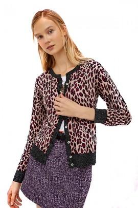 LIU JO Patterned cardigan sweater