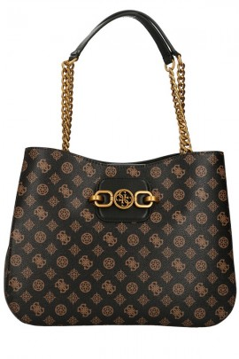 GUESS Micrologated rounded bag with chain handles