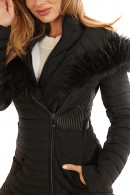 GUESS Quilted jacket with detachable fur
