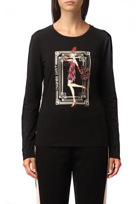 LIU JO Langarm-T-Shirt und Aufdruck