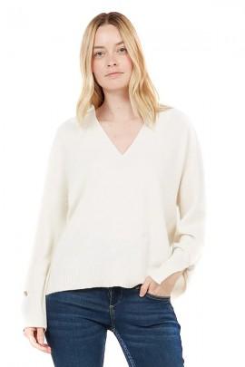 LIU JO Weiter Pullover mit V-Ausschnitt und Schlitz in den Bündchen