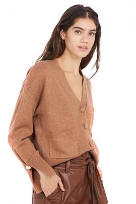 LIU JO V-shaped cardigan with external pockets