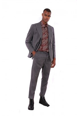 IMPERIAL Wide pinstripe chino trousers